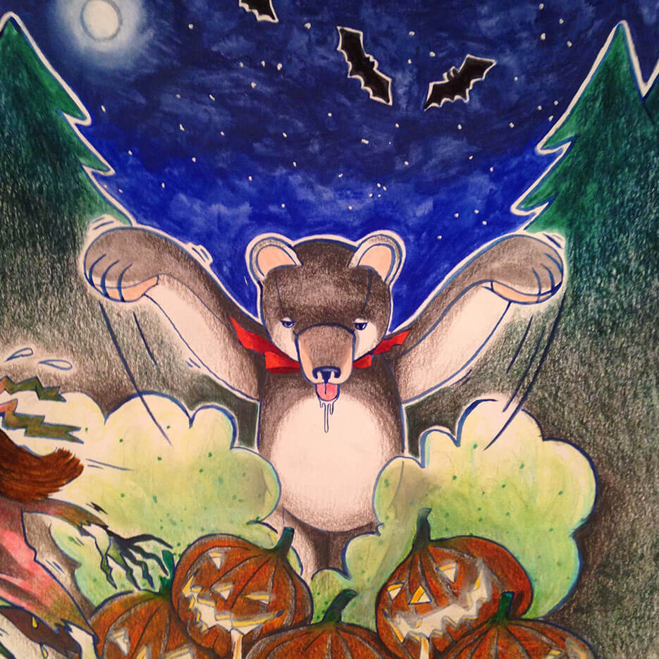Halloween: the scare of the witch Bibiyaga