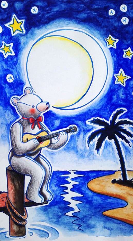Singing under the moon